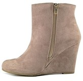 Report Womens Russi Fabric Almond Toe Ankle Fashion Boots, Black, Size 10.0.
