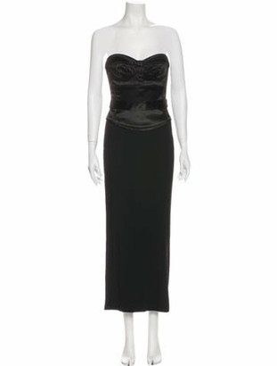 Dolce & Gabbana Strapless Midi Length Dress Black