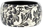 Chanel Floral Carved Resin Bangle