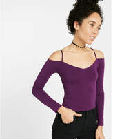 Express one eleven abbreviated cold shoulder tee