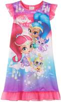 Nickelodeon Nick Jr Shimmer And Shine and Pets Nightgown for girls