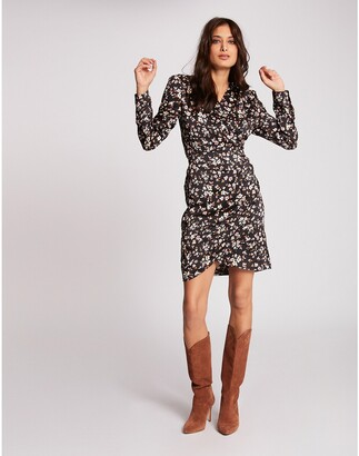 Morgan Short Wrapover Dress in Floral Print