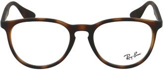 Ray-Ban Erika Round Tortoiseshell Effect Glasses
