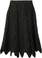Zac Posen Dani scalloped jacquard skirt - women - polyester/Nylon/Cotton - 0