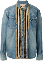 Sacai appliqué denim shirt