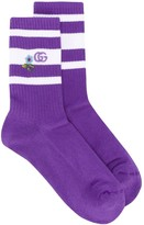 Gucci embroidered terry cloth socks