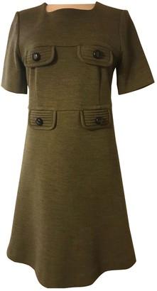 Orla Kiely Khaki Wool Dress for Women