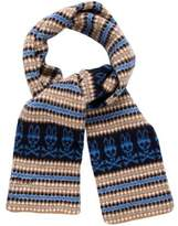Psycho Bunny Patterned Wool Scarf