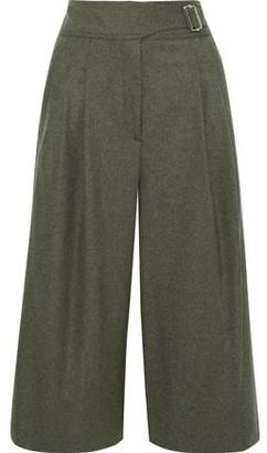 Rag & Bone Aubrey Pleated Melange Wool-blend Culottes