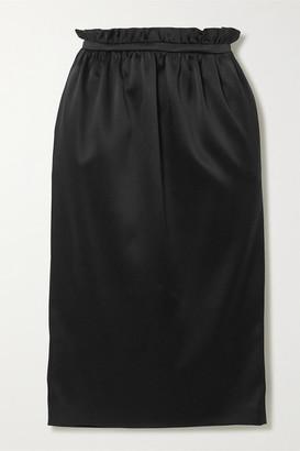 Versace Satin Midi Skirt - Black