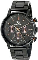 Rip Curl Men's 'Drake Chrono Midnight SSS' Quartz Stainless Steel Sport Watch, Color:Black (Model: A2870-MID)