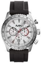 Michael Kors MK8353 Chronograph Silver Dial Black Silicone Analog Men