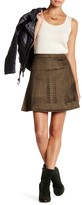 Romeo & Juliet Couture Faux Suede Laser Cut Mini Skirt