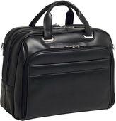 McKlein McKleinUSA Springfield 15.6 Leather Fly-Through Checkpoint-Friendly Laptop Briefcase