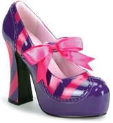 Funtasma Women's Kitty 32 - Purple/Hot Pink Patent Platform Shoes