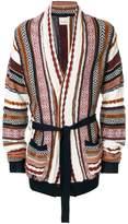 Laneus patterned longline cardigan