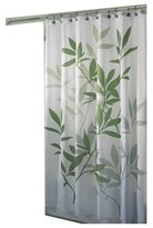 InterDesign Leaves Fabric Shower Curtain, 183 x 183 cm - Green/White