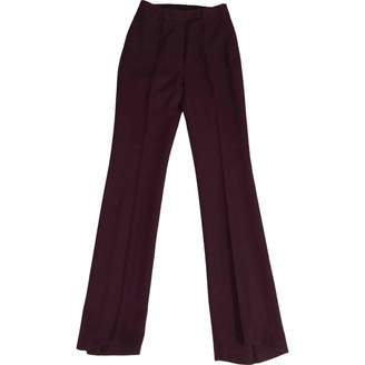 John Galliano Purple Wool Trousers for Women Vintage