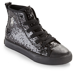 Ralph Lauren Kid's Sag Harbour Glitter High-Top Sneakers