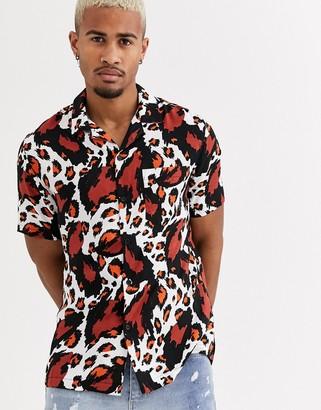 Religion Hunter short sleeve animal print shirt in multi