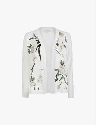 Ted Baker Elderflower floral-print cotton-blend cardigan