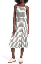 Lush Women's High Neck Knit Midi Dress