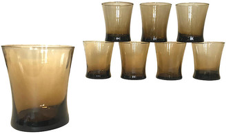 One Kings Lane Vintage Libbey Smokey Brown Lowball Glasses - Set of 8 - Eat Drink Home