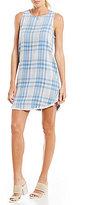 Chelsea & Violet Side Button Plaid Dress