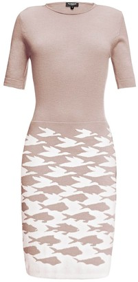 Rumour London Sea & Sky Soft Pink Merino Wool Knitted Dress