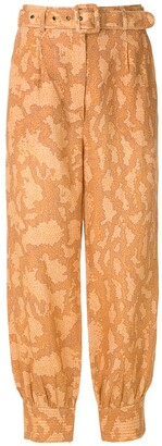 Nk Printed Linen Trousers