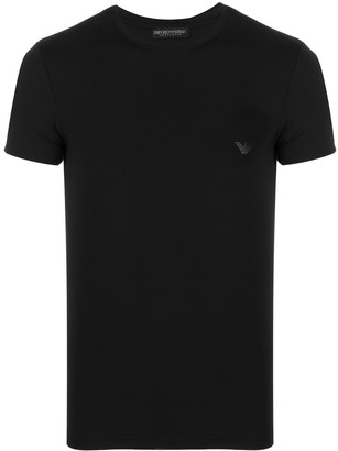 Emporio Armani logo patch short-sleeved T-shirt