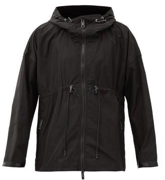 Burberry Bacton Shell Hooded Windbreaker Jacket - Black