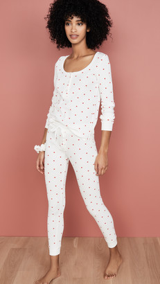 Plush Thermal Heart PJ Set with Scrunchie