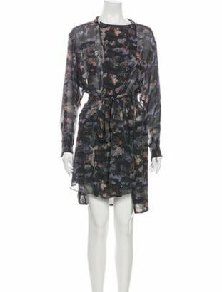 Isabel Marant Printed Knee-Length Dress Purple