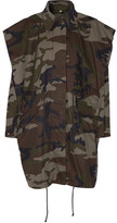 MM6 MAISON MARGIELA Hooded Camouflage-print Cotton-canvas Jacket - Army green