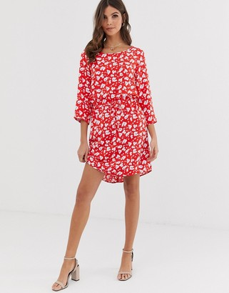 Vero Moda floral dress with 3/4 sleeves