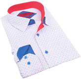 Elie Balleh Boys' Button Down Shirts RED - Red Diamond Contrast-Cuff Button-Up - Toddler