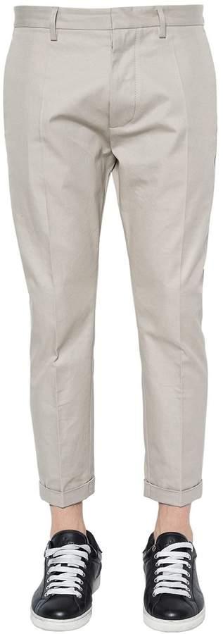 DSQUARED2 16cm Hockney Cotton Twill Chino Pants
