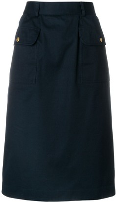 Chanel Pre Owned A-line midi skirt