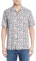 Tommy Bahama 'Dundee Floral' Regular Fit Floral Short Sleeve Silk Camp Shirt