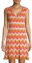 Thumbnail for your product : M Missoni Metallic Chevron Knit Dress