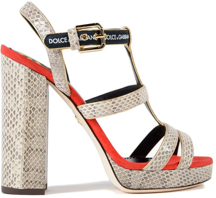 Dolce & Gabbana Ayers+suede Sandal