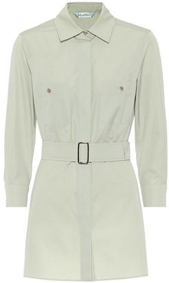 Max Mara Marche cotton poplin safari shirt