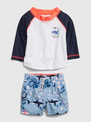 Gap Baby Rash Guard Swim Set
