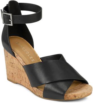 Aerosoles Women's Sandals BLACK - Black Carnegie Leather Sandal - Women