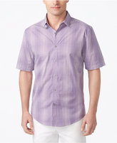 Alfani Men's Grid Pattern Shirt, Only at Macy's