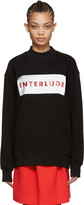 MSGM Black 'Interlude' Sweatshirt