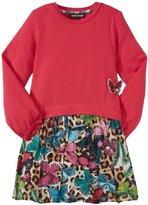 Roberto Cavalli Just Cavalli Multi Print Dress (Toddler/Kid) - Fuschia-4 Years