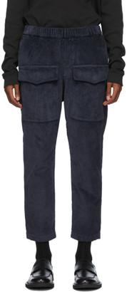 Barena Navy Corduroy Riofondo Cargo Pants