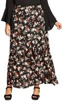 City Chic Plus Size Women's Free Spirit Maxi Skirt